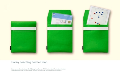 Hurley coaching bord en map van vilt